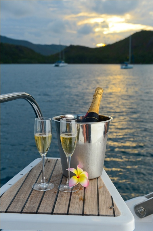 Champagne sunset...