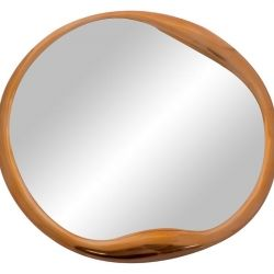 The fluidity of this mirror is very reminiscent of art nouveau - Copper Round Mirror | The Block Shop - Channel 9