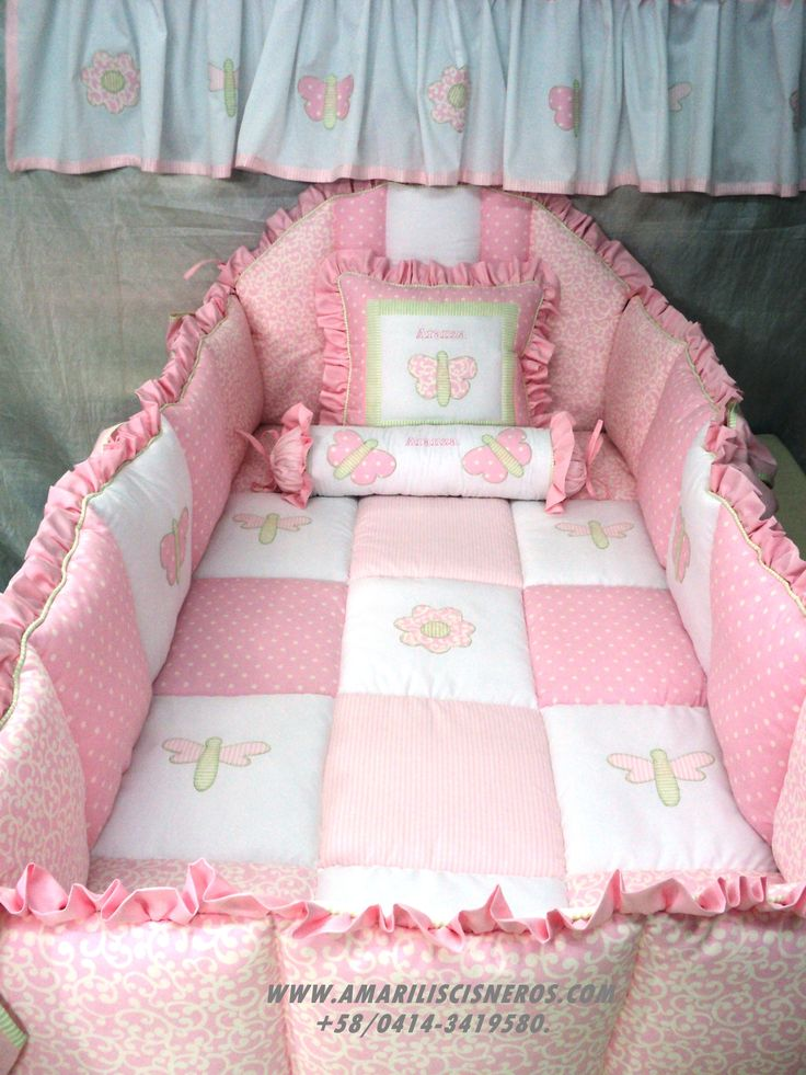 M s de 1000 im genes sobre lencer a y decoraci n set de - Cuna cama para nina ...