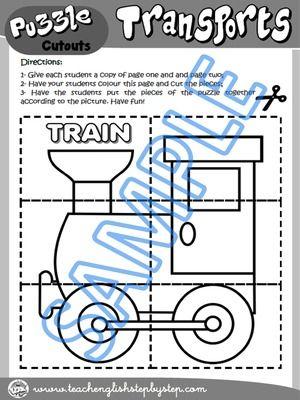 DIY Puzzle - Worksheet Version (puzzle pieces cutouts)