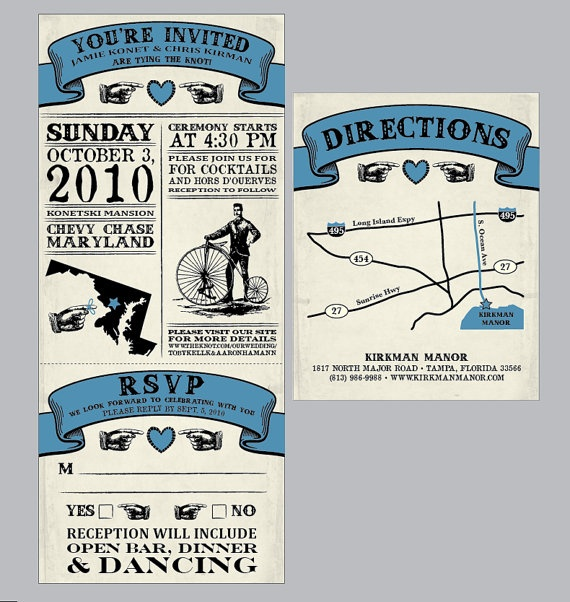 Vintage - Antique Victorian Movie Ticket Wedding
