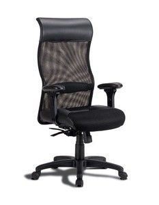 Coaster 800052 Leather Mesh Office Chair, Black