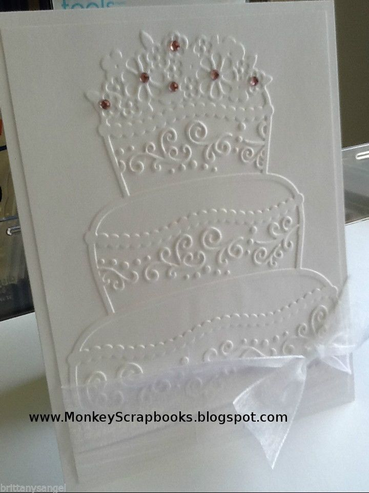 Свадебная открытка торт