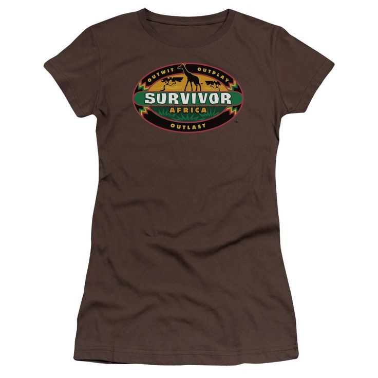 """Checkout our #LicensedGear products FREE SHIPPING + 10% OFF Coupon Code """"Official"""" Survivor / Africa-short Sleeve Junior Sheer-coffee-sm - Survivor / Africa-short Sleeve Junior Sheer-coffee-sm - Price: $34.99. Buy now at https://officiallylicensedgear.com/survivor-africa-short-sleeve-junior-sheer-coffee-sm"""