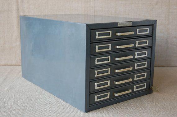 Vintage SteelMaster Metal File Cabinet, Storage Cabinet, Craft ...