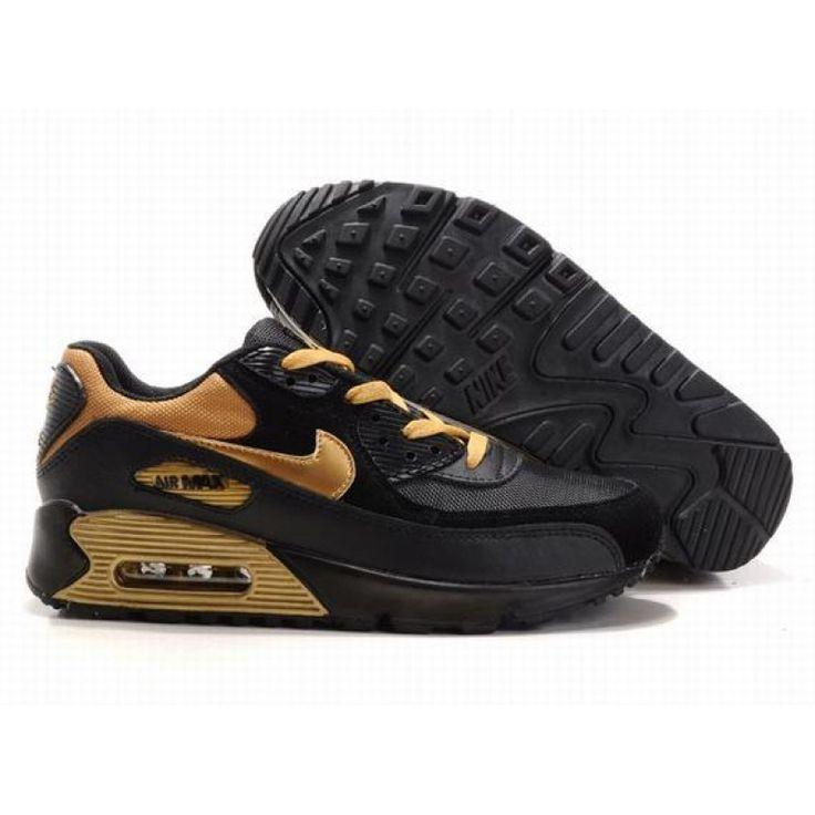 black and gold air max 90