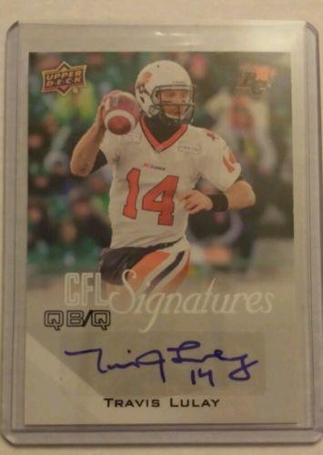 Travis Lulay Upper Deck CFL Signatures M-TL in Sports Mem, Cards & Fan Shop | eBay