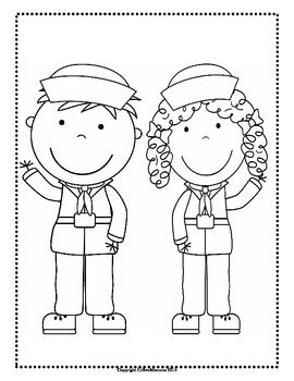 Veterans' Day Themed Making Words, Coloring Sheets, and Le