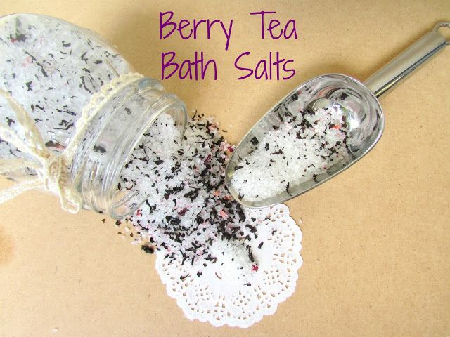 DIY Berry Tea and Orange Bath Salts!!!! #bath #beauty #diy #tutorial #aromatherapy #tea #berry #orange #salt