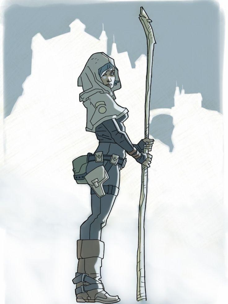 Guardian woman by kartinka75 on deviantART. Character Drawing Illustration Inspiration