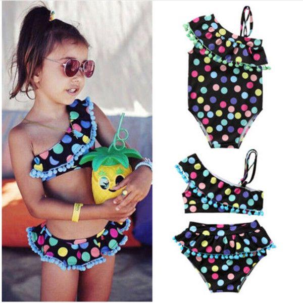 2019 Mädchen Bademode Strand Süße Kinder Farbige Tupfen Badeanzug Baby Schwimmen Kleidung Sommermode Kinder Bikini Von Baby_sky, $ 7.17 | DHgate.Com   – For sale