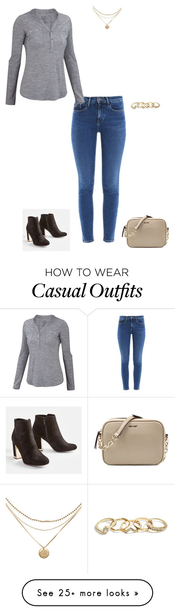 """Casual"" by missblocke on Polyvore featuring Calvin Klein, ibex, JustFab, GUESS and Nine West"