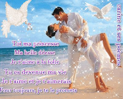 SMS d'amour poème avec belle image d'amour