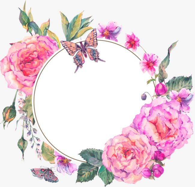 Pink Hand Painted Flowers Decorative Border Texture Pink Hand Painted Flowers Png Transparent Clipart Image And Psd File For Free Download Flower Painting Hand Painted Flowers Flower Frame