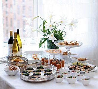 Bröllopsmottagning med tapasmingel / Wedding reception with tapas