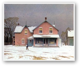 """""""Grey Day """" by A.J. Casson, member of Canada's Group of Seven."""