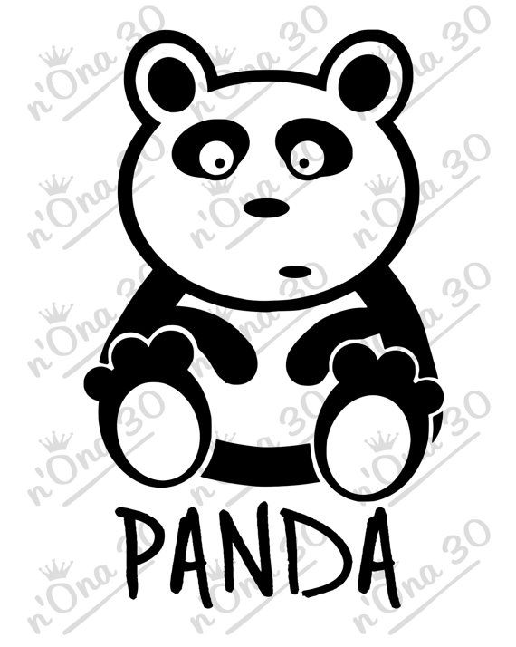 PANDA design file for Silhouette or other cutting por Nona30