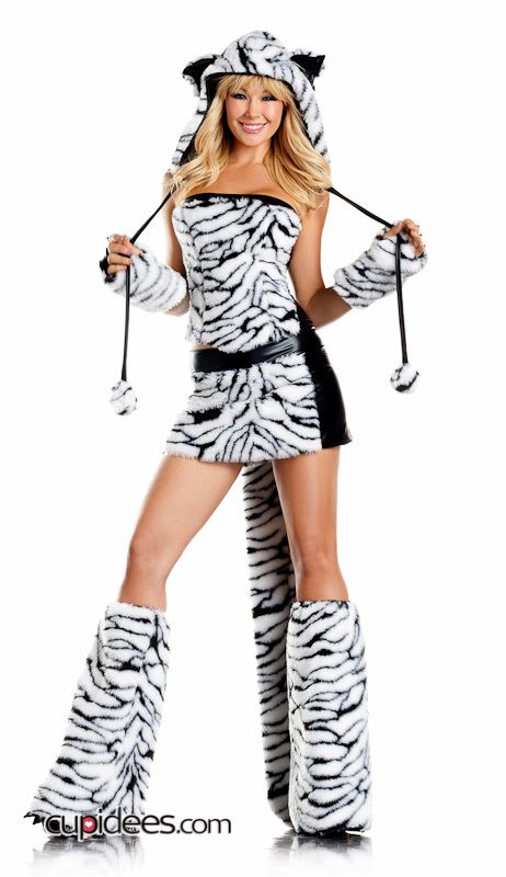 cheap deluxe tiger halloween costume wholesale all productssexy costumesfairy tales - Tigress Halloween Costume