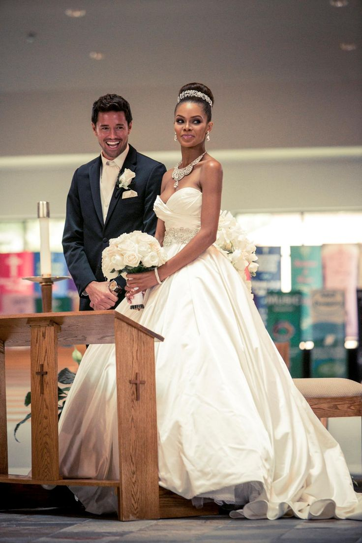 Former Miss USA Crystle Stewart and her husband model Max Sebrechts. Watch his proposal HERE.