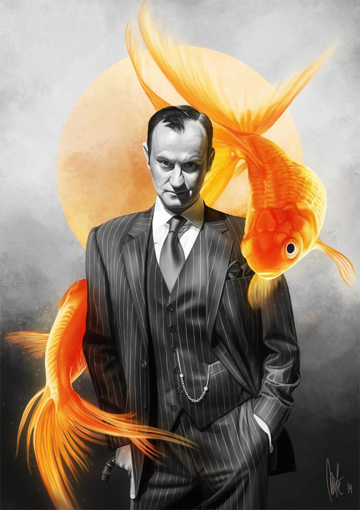 "Mycroft: ""If you seem slow to me Sherlock, can you imagine what *real* people are like? I'm living in a world of goldfish...""  -repinned:http://tillieke.deviantart.com/art/Goldfish-431371894"