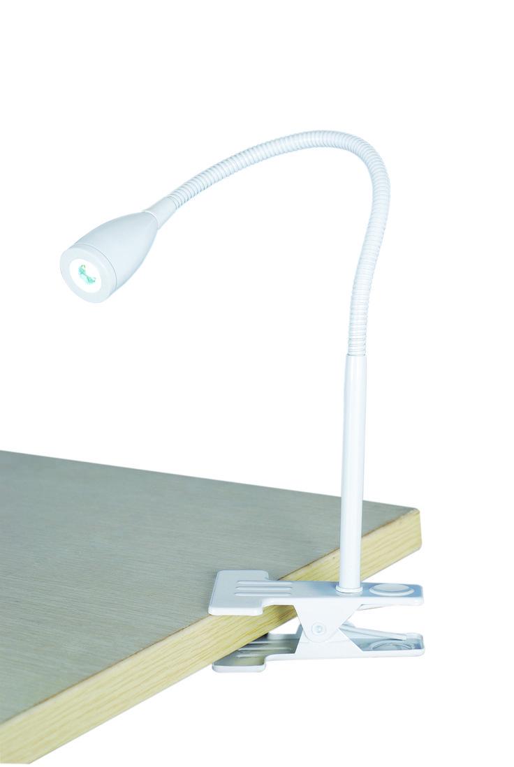 Sassy Clamp Lamp in White