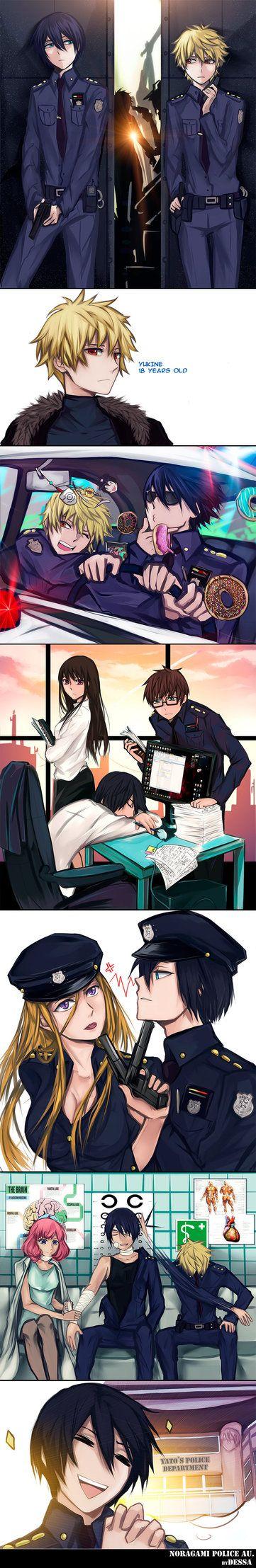 Noragami: Police AU by Dessa-nya