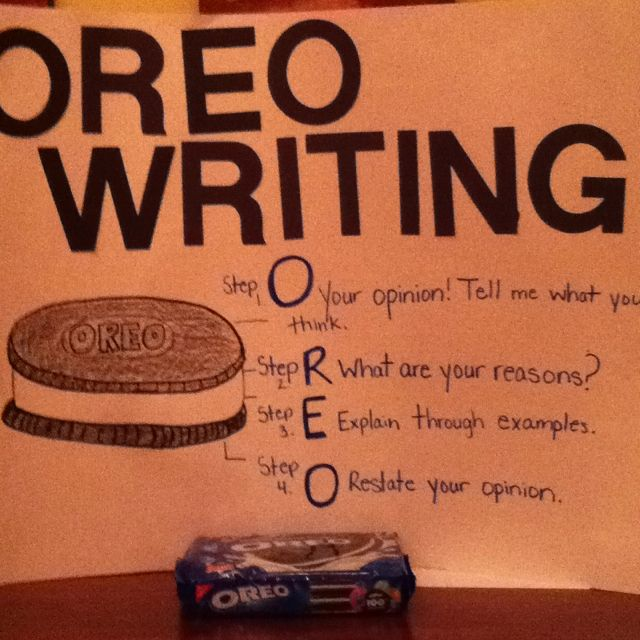 Teaching opinion writing OREO style tomorrow to my first graders!Middle Schools, Cute Ideas, Style Tomorrow, Writing Oreo, Persuasive Writing, Oreo Style, Teaching Opinion, Elementary Schools, Opinion Writing