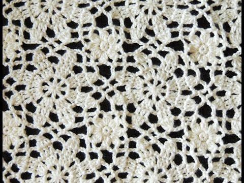 Crochet: Motivo Flores # 3 y Uniones - YouTube                              …