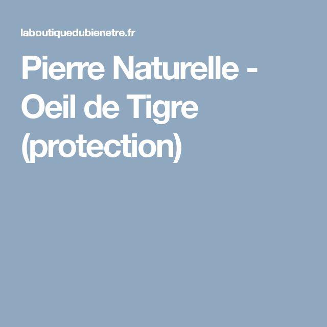 Pierre Naturelle - Oeil de Tigre (protection)