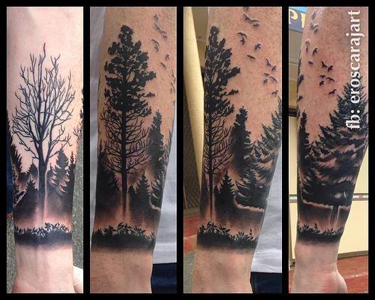 Dark Forest Tattoo on Forearm #Brisbane #Tattoo #Artist #Tattooist
