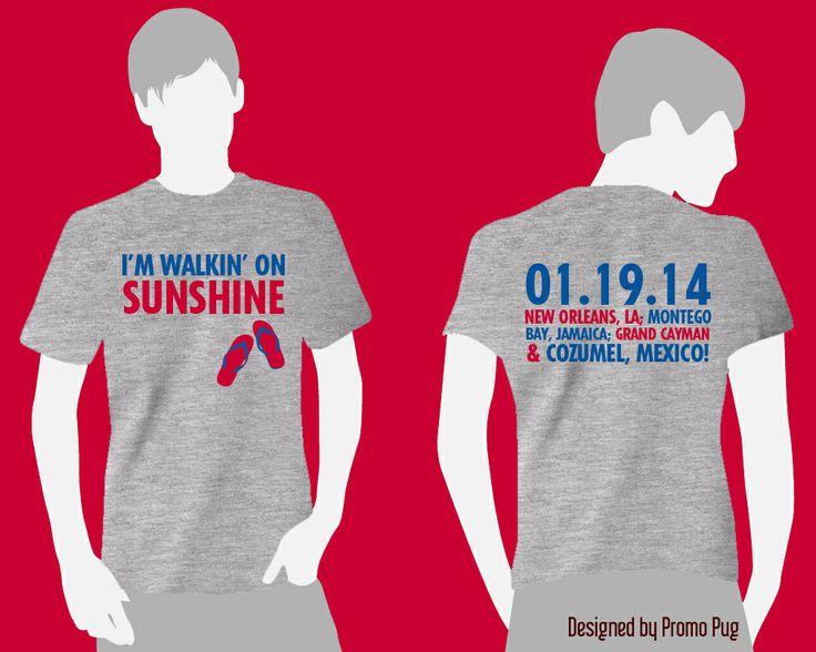 Shirt created by Promo Pug for a Cruise Group on the Sunshine! promopug.com/cruise #cruise #cruisecritic #CCL #customshirt #Sunshine #cruiseshirt