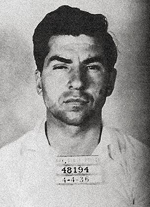 "Charles ""Lucky"" Luciano (1897-1962) infamous gangster considered the ""father of mordern organized crime in the US"". Born in Sicily, Luciano moved to the US and began his rise during Prohibition. He later became one of the most powerful men in the mob."