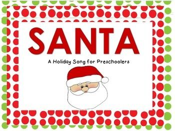 Visuals to go with the Santa song (to the tune of Bingo) - $2 Teachers Pay Teachers