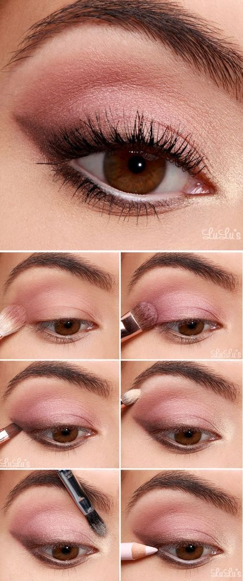 10 Hermosas Ideas Para Pintar Tus Ojos De Rosa Machiaje Makeup
