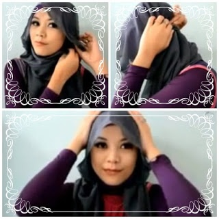 Tutorial Square Hijab Creation Indonesia Woman