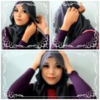 Tutorial Square Hijab Creation Indonesia Woman