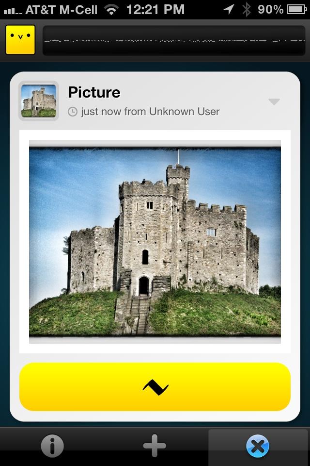 Chirp iPhone App -- Share photos using soundwaves!