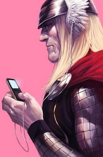 Thor has iPod Spielautomat: Avengers, Marvel, Ipod, Art, Comic Book, Marko Djurdjevic, Thor, Comics, Superhero