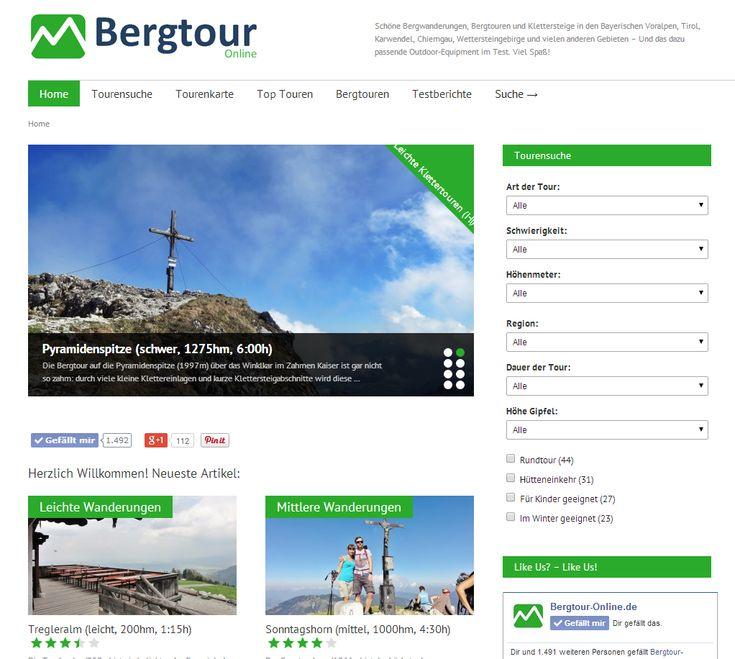 Schöne Bergtouren, Bergwanderungen, Ski- & Mountainbiketouren mit detaillierten Beschreibungen