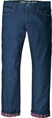 "Men's Dickies Relaxed Straight Fit Flannel-Lined Jean 34"" Inseam"