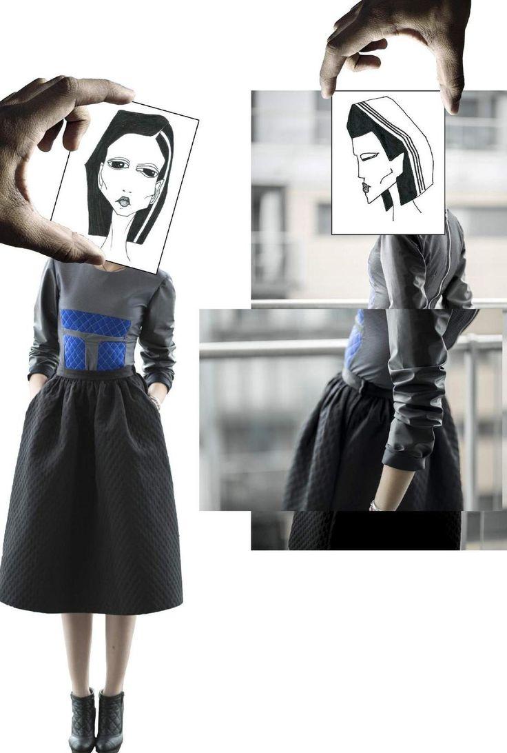 Fashion Sketchbook - creative fashion collage; fashion illustration; fashion portfolio // Alena Kremleva
