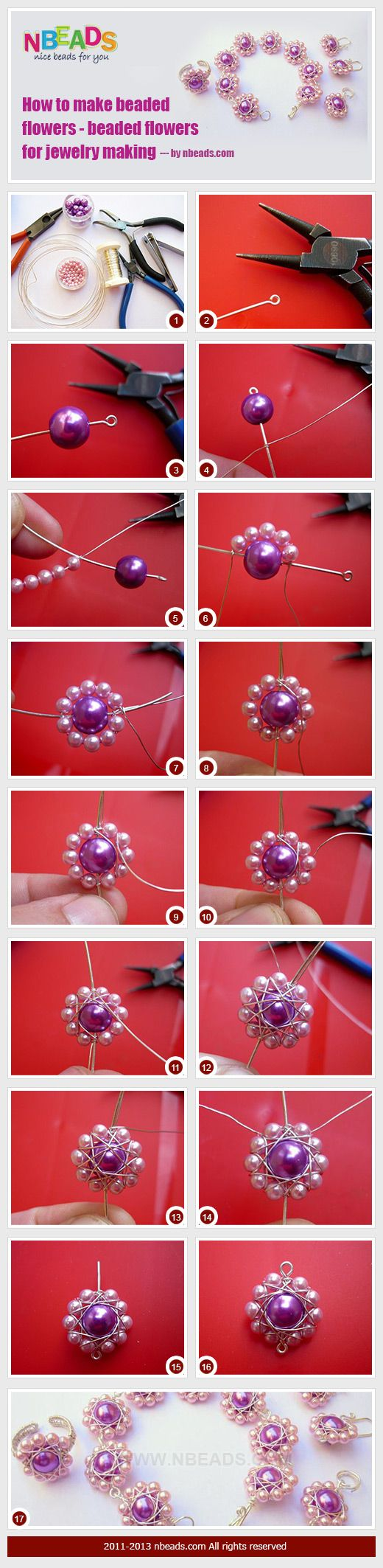 how to make beaded flowers - beaded flowers for jewelry making