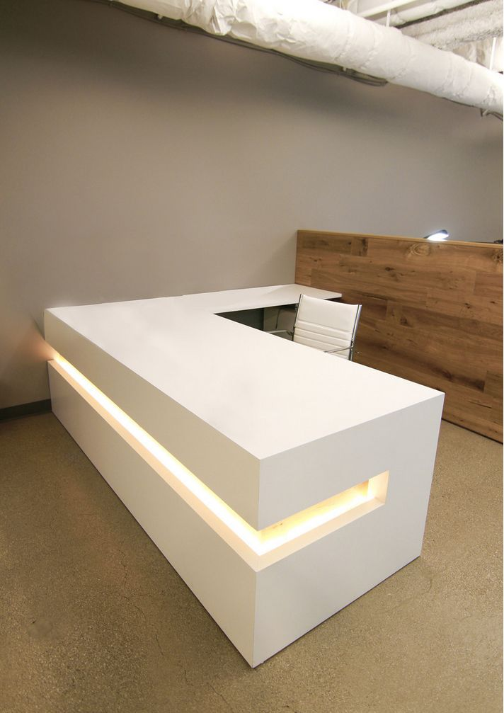 office reception counters. custom made white lacquer reception desk office counters