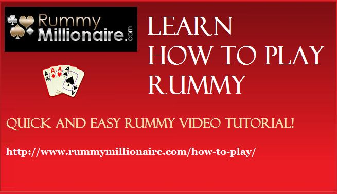 Learn how to play rummy online at RummyMillionaire.com!