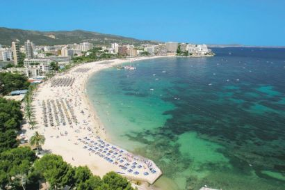 Magaluf, Majorca. Somewhere I took a lot of travel agents!!