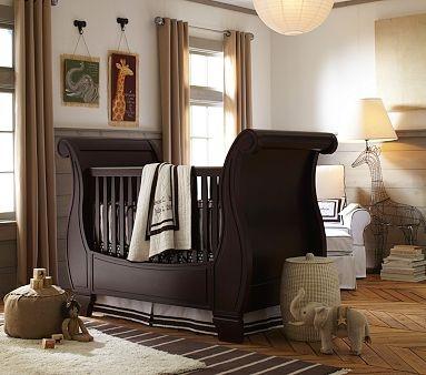 I Love The Larkin Fixed Gate Sleigh Crib On