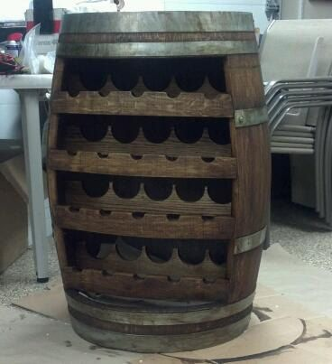 Wine Barrel /wine rack. Awesome idea
