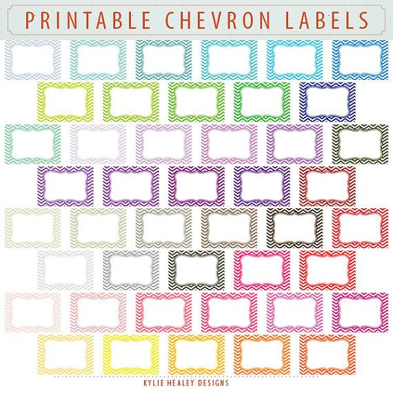Chevron Labels and Journal Squares - 45 Labels  - Clip Art ClipArt Scrapbooking CU OK  Instant Digital Download & Printable. $3.00, via Etsy.