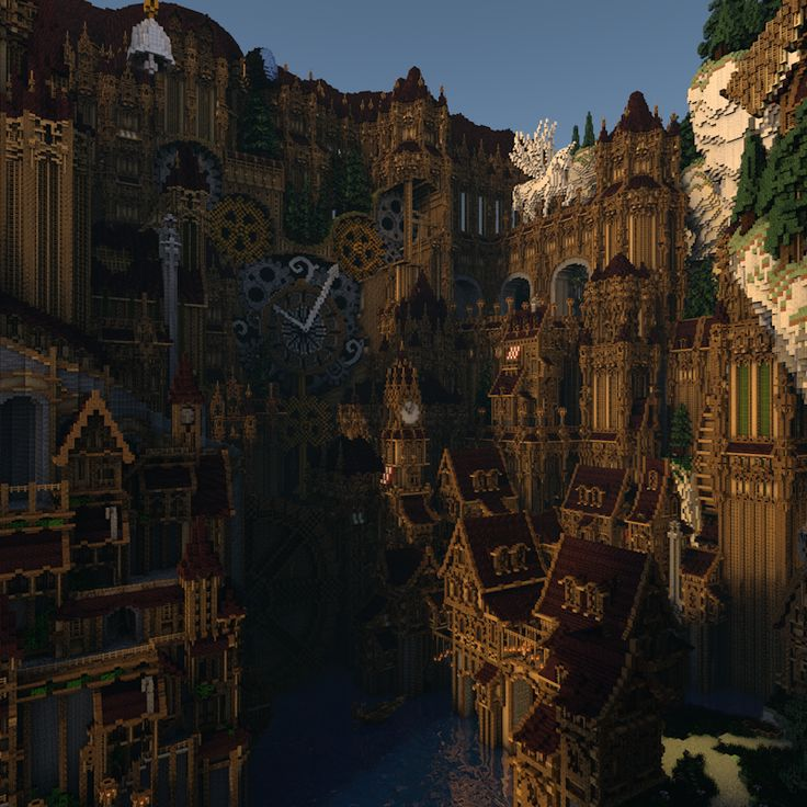 Minecraft Steampunk City 80% completed by Notux on DeviantArt