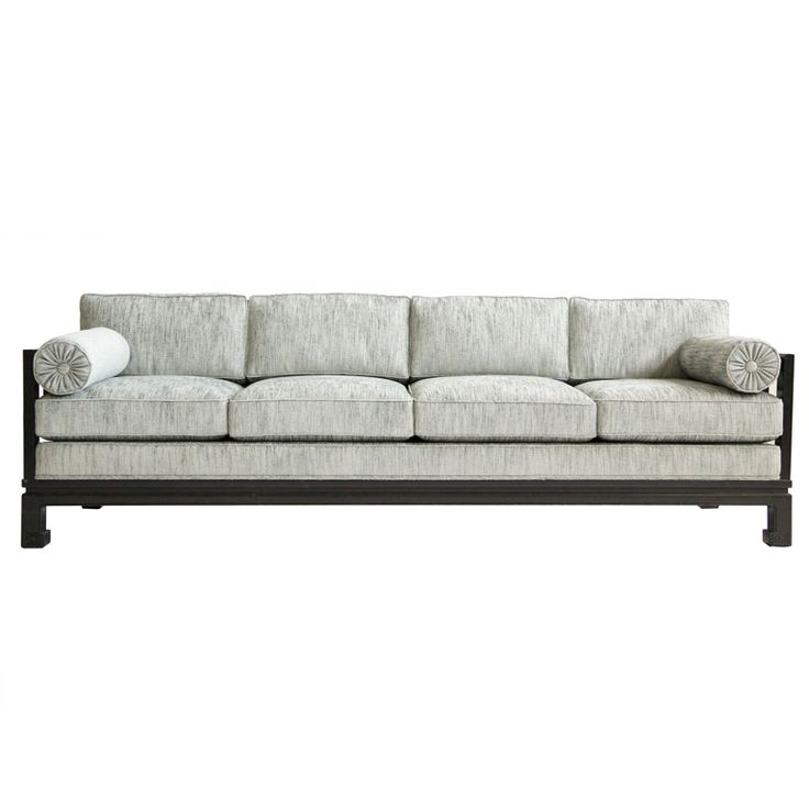 Baker Four-Seat Sofa | From a unique collection of antique and modern sofas at https://www.1stdibs.com/furniture/seating/sofas/